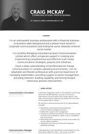 Communications Consultant Resume samples