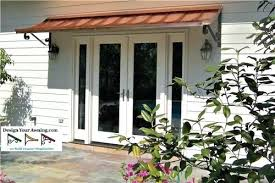 diy patio door awning patio door canopy