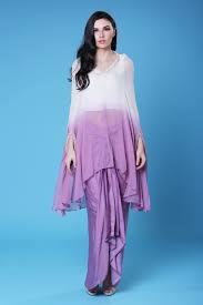 Ladies Lungi Designs White Lavender Cape Lungi Set