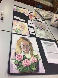 Art Portfolio Design Ideas National 5 Art And Design Self Portrait Folio Expressive
