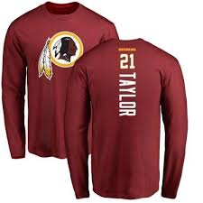 Sean Line - Taylor Backer Men's Redskins Sleeve Washington Maroon Pro T-shirt Long