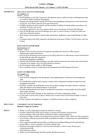 Supervisor Resume Examples Safety Supervisor Resume Samples Velvet Jobs 21