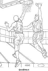 Disegni Di Basket Da Colorare Giocabimbo