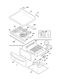 Plef398aca electric range top drawer parts diagram