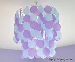 diy vellum paper chandelier