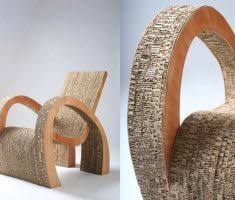recycled paper furniture. recycledfurniturepapercardboardchair recycled paper furniture