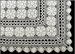 irish rose crochet lace tablecloth