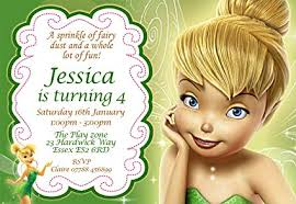Tinkerbell Invitation Tinkerbell Birthday Party Invitations Envelopes Personalised Click Customize Now For Prices