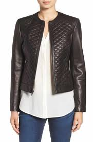 Cole Haan Outerwear for Women | Nordstrom & Cole Haan Quilted Leather Moto Jacket Adamdwight.com