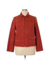 Details About Studio Works Women Orange Jacket 16 Petite