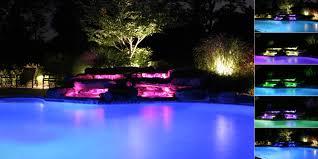 pool waterfall lighting. Delightful Outdoor Pool Lights Water Lighting Ponds Waterfall New Jersey | NJ E