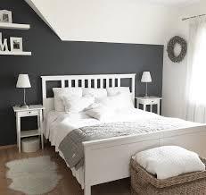 Kuhles Wandgestaltung Schlafzimmer Deko Grau Weiß Schlafzimmer In