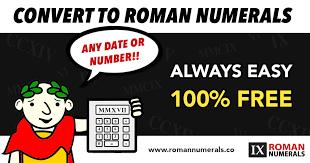 Printable Roman Numeral Charts