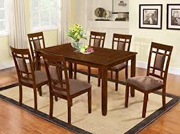 cherry wood dining room table. Perfect Cherry The Room Style 7 Piece Cherry Finish Solid Wood Dining Table Set In X