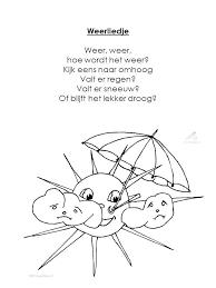 Liedje Over Het Weer Liedjes En Versjes Voor In De Klas T