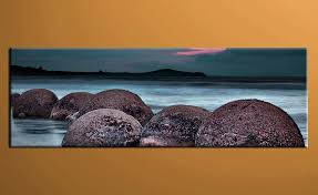 Small Picture 1 Piece Canvas Photography Blue Ocean Rock Huge Pictures