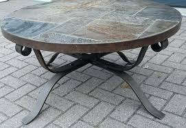 wrought iron end table base round metal for granite top legs bases full size of ideas kits coffee furniture kitchen