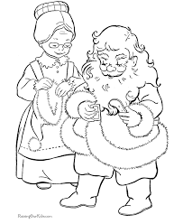 Small Picture Claus helps Santa Christmas coloring page