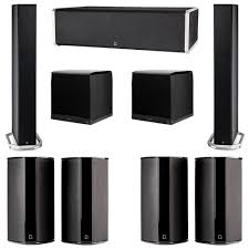 definitive technology 7 2 system with 2 bp9060 tower speakers 1 cs9060 center channel speaker 4 sr9080 surround speaker 2 definitive technology supercube