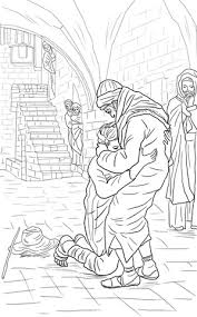 the prodigal son coloring pages. Delighful Pages The Return Of The Prodigal Son Coloring Page For Coloring Pages O