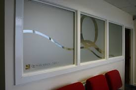 office foyer designs. printed etch designs for offices branding bespoke cut vinyl foyer frosted office