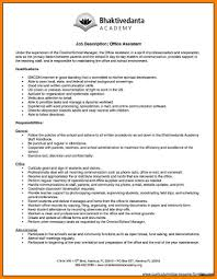 Medical Office Assistant Job Description For Resume Resumes For Office Assistant Resume Position Medical 65