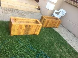 wooden planters for