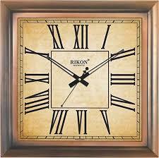 decor wall clock brown roman