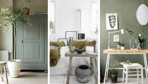 interior decoration in olive green