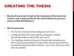 dbq introduction and conclusion step the thesis dbq essays  step 1 the thesis dbq essays must have a thesis a statement of opinion