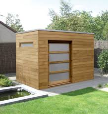 Stylish Sheds Contemporary Garden Shed In Iroko Pinteres