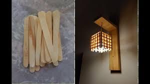 Diy Craft Dm Craft Wall Lamp Easy Craft Ideas Ice Stick Craft