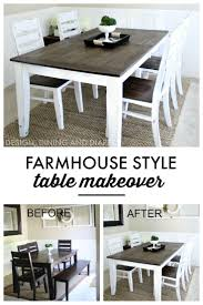farmhouse table makeover kitchen characters learning and farmhouse table
