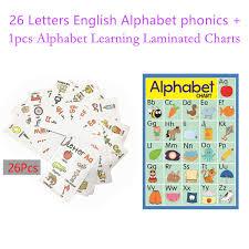 Amazon Com 26 Alphabet Flashcards 1 Alphabet Learning