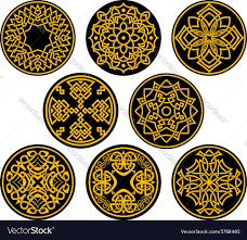 Intricate Patterns Inspiration Decorative Round Intricate Patterns Royalty Free Vector