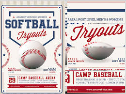 Free Baseball Flyer Template Softball Tryout Flyer Template Magdalene Project Org