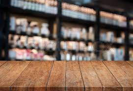 wood table perspective. Plain Table Perspective Top Wooden Table With Blurred Cafe Background Product Display  Template  Stock Photo Colourbox In Wood Table L