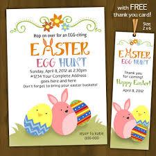 Easter Egg Hunt Invitation Printable Easter Invitation Easter Party Invitation With Free Thank You Card