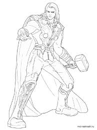 Small Picture Thor coloring pages Free Printable Thor coloring pages