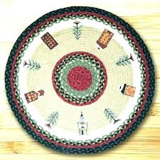 rug runners round rugs photo 1 of 2 winter village holiday braided jute icy blue poinsettia holiday rug