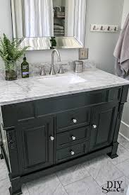 grey bathroom vanity tops. black cabinet with white marble top//huntshire bathroom vanity diy showoff website. from ick to ahhh. love this grey tops o