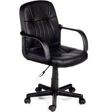 chair walmart. comfort products 60-5607m leather mid-back chair, black chair walmart