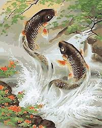 You might provide a default background color for the canvas, specifying colors in any of the ways you canvas widgets have a tremendous number of features, and we won't cover everything here. Amazon Com Diy Oil Painting Paint By Number Kit Image Drawing On Canvas By Hand Coloring Arts Crafts Sewing Koi Carp