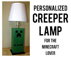 Kids Table Lamps Bedroom Creeper Table Lamp Minecraft Unique Kids Bedroom Decor