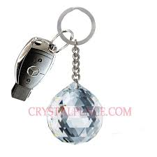 crystal key holder with swarovski strass crystal ball prism