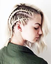 side braided corn rows hairstyle for short hair