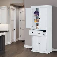 home white. HOMCOM 72Inch Wood Kitchen Pantry Cabinet Tall Storage Cupboard Food Organizer Shelf Home Furniture White N