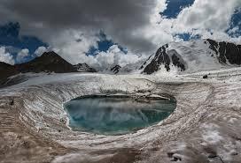 Chmury, Wulkanu, Crater, Gory