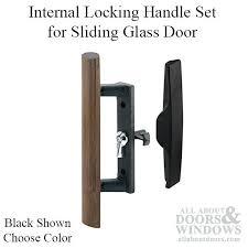 full image for internal locking handle set for sliding glass door choose color sliding door locks
