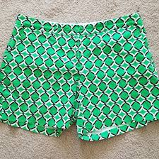 Crown Ivy Green Geo Print Short 16w